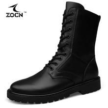 Big Size 48 Winter Military Boots Men Cow Split Leather Tactical Boots Men Winter Shoes Men Fur Army Boots Chaussure Homme