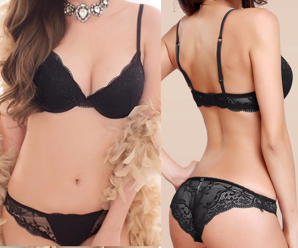 Vogue Secret Sexy Women Lace Underwear   Brief     Bra     Sets   Embroidery Floral Panties Sexual Lingerie Push Up   Bra   Bralette Padded Gift