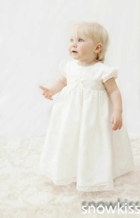 цена Elegant Short Baby Girls Boys Blessing Dresses With Bonnet Heirloom Dedication Gown Christening gowns vestido de baptizado онлайн в 2017 году