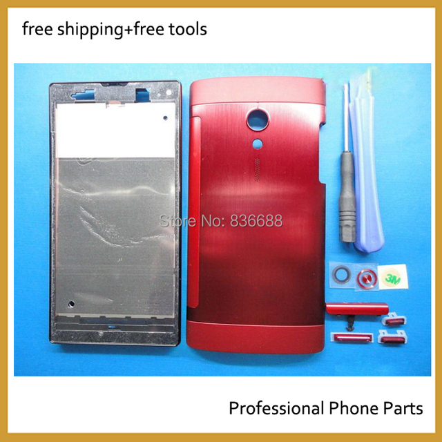 100% OEM  Housing Cover For Sony Xperia Ion LT28i LT28H LT28 Front Cover +Middle Plate +Battery Door +buttom Cap . Free Shipping