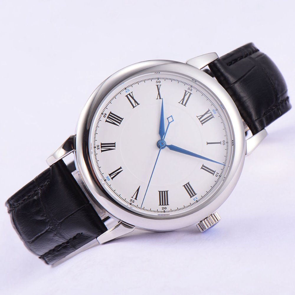 40mm corgeut white sterile dial Sapphire Glass miyota 821A Automatic mens Watch