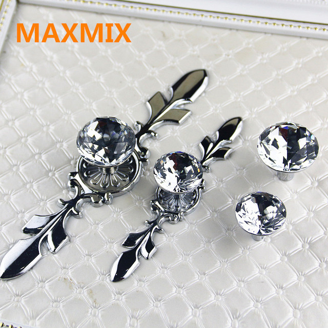 MAXMIX drawer Diamond cabinet knobs small handle European style ...