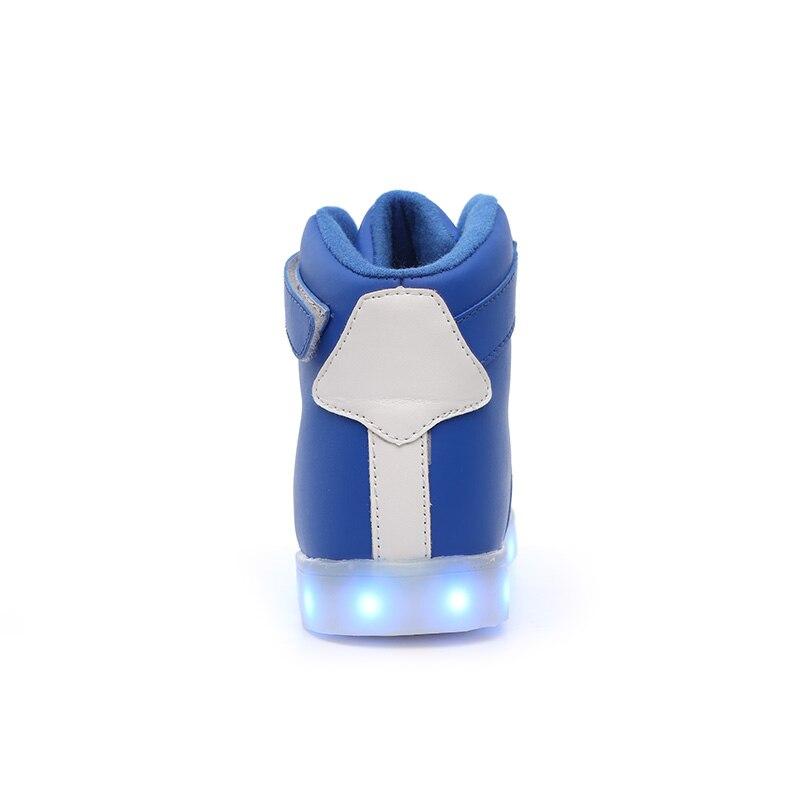 USB oğlan və qızlar ilə yüksək rəngli LED rəngli - Uşaq ayaqqabıları - Fotoqrafiya 3