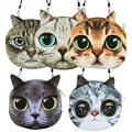 NEW Year Gift Women Shoulder Bag Cat Face Pouch Bag Cartoon Print Zipper Closure Messenger Bag Coin Purse Clutch Bag *35