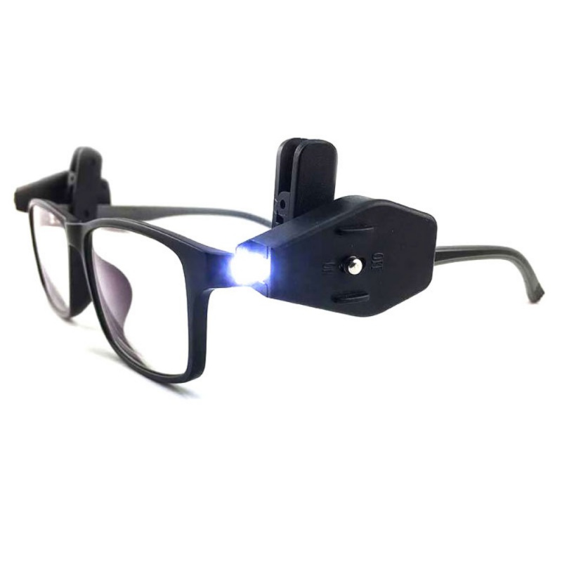 Mini LED Flashlight Glasses Lamp Light Direction With Battery Reading Lighting Portable Outdoor Fishing Lights