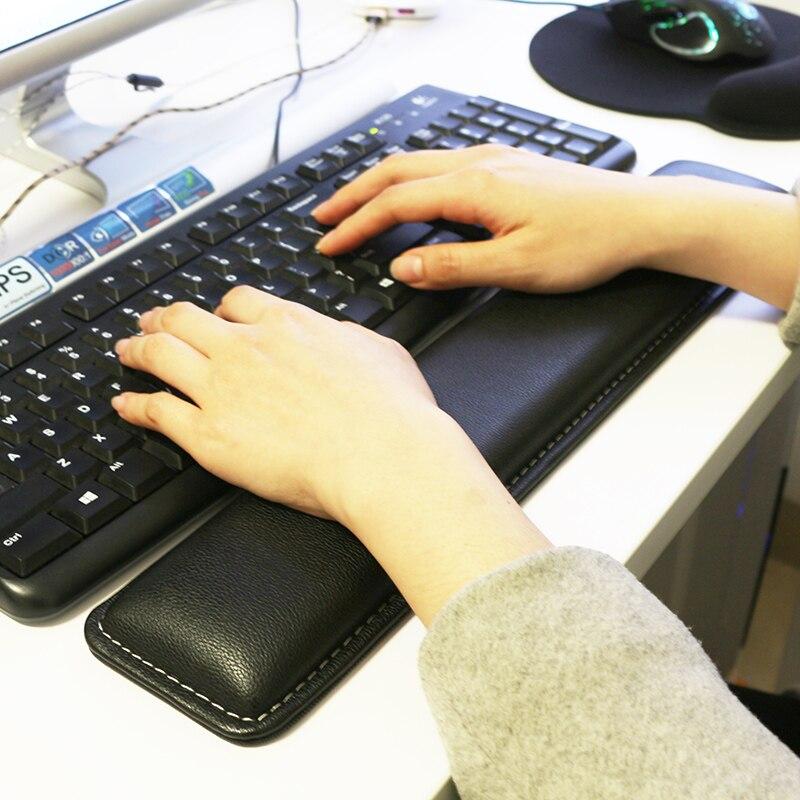 Sovawin Leather Keyboard Wrist Rest Pad Gamer PC Handguard Comfortable Ergonomic Game Large Mat 45 8