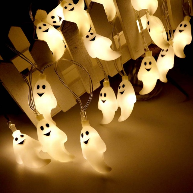 Halloween Decoration Holiday 10 20 Led String Lights Little Ghost 3