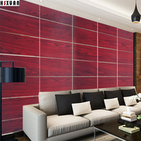 Pvc Red Wood Grain Paper Decal Self Adhesive Removable Kitchen Waterproof Stickers Home Decor Kitchen Tiles