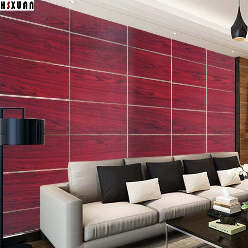 Tile Decor Store: Aliexpress.com : Buy Pvc Red Wood Grain Paper Decal Self
