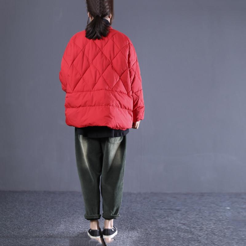 Manches Hiver Manteau Solide Lâche Black Casual Femmes Collar hg down De Poche Mode Dll1227 Femlae 2018 red Pleine Corée Turn Nouvelles Couleur Parka Dll1227 aqAYPp