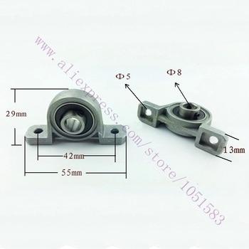 Piezas de impresora 3D, 2 uds. KP08 diámetro del soporte del tornillo de plomo 8mm aleación de Zinc para T8 Collar del eje del tornillo de plomo (abrazadera)