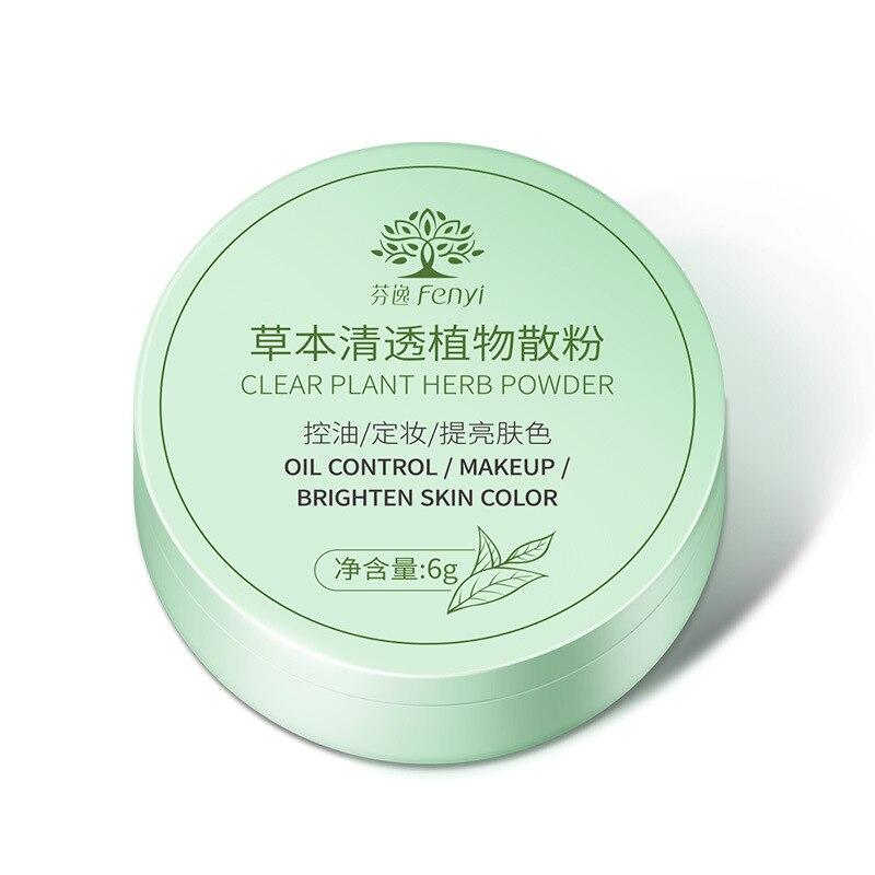 Poudre de maquillage durable de contrôle d'huile de poudre végétale claire de fines herbes pour illuminer la couleur de peau
