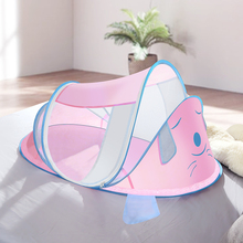 Dog Design Folding Baby Bedding Crib Netting Summer Newborn Baby Sleep Mosquito Nets for 0-3 Years Baby Safe Insect Net Bed Tent