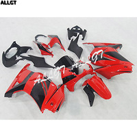 ABS Injection Fairing Kits Plastic Set for 08 09 10 11 12 Kawasaki Ninja 250R EX250 (2008 2012) Red Black