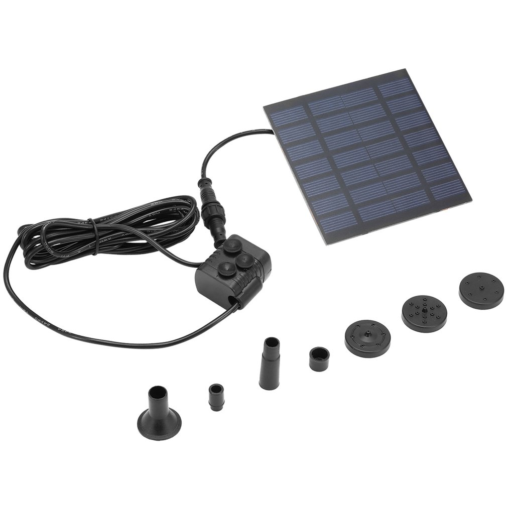 Solar Power Water Pump Garden Sun Plants Watering Outdoor Water Fountain Pool Pump Decor
