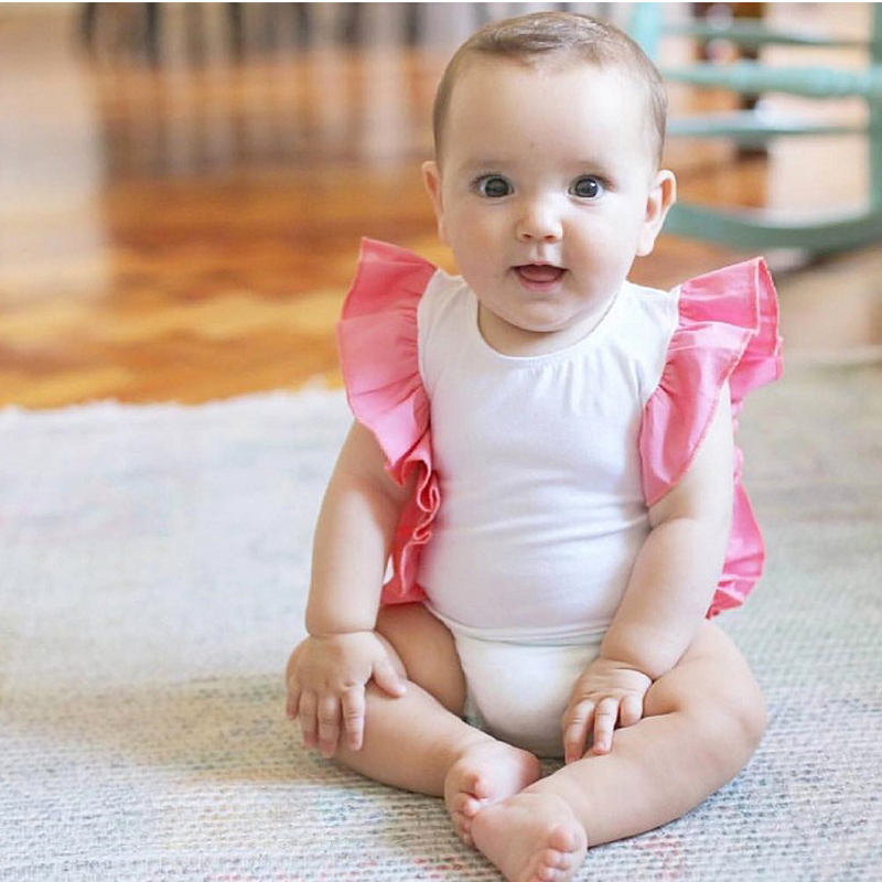 2017 Baby Rompers Summer Baby Girls Clothing Cartoon Newborn Baby Clothes Roupa lace Sleeve Baby Girl Clothes Infant Jumpsuits cotton baby rompers set newborn clothes baby clothing boys girls cartoon jumpsuits long sleeve overalls coveralls autumn winter