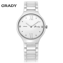 Fashion Brand women ceramic watches high quality women dress watch lady waterproof quartz watch wristwatch free