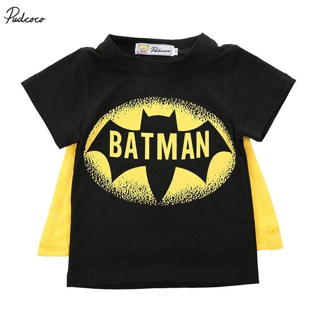 2019 marca emmamaby Baby Boys Camiseta Superman Batman camiseta niños 3D dibujos animados manga corta niños camiseta Nova Boys ropa