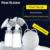 2016 versión de actualización doble envío dos pezón sacaleches eléctrico extractor de leche de succión de gran alcance diy con biberones de leche