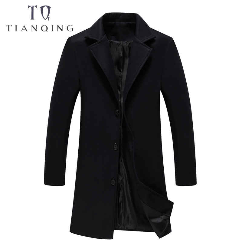 85396fc11a TIAN QIONG Men's Coats & Jackets Winter Cashmere Jacket Man Long ...