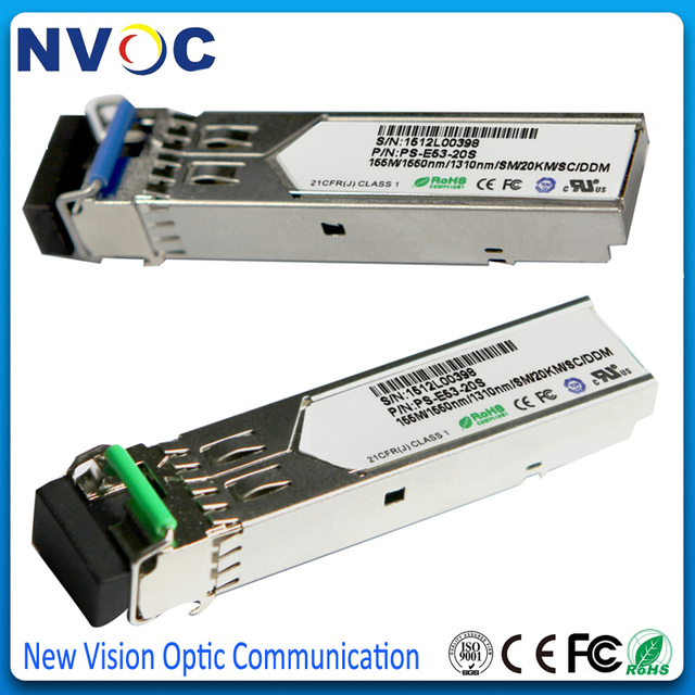 5Pcs/Lot,155M 1310/155nm,20KM,Single Mode Single Fiber,DDM,100BASE-FX,BIDI,SMF,LC SFP Transceiver Module