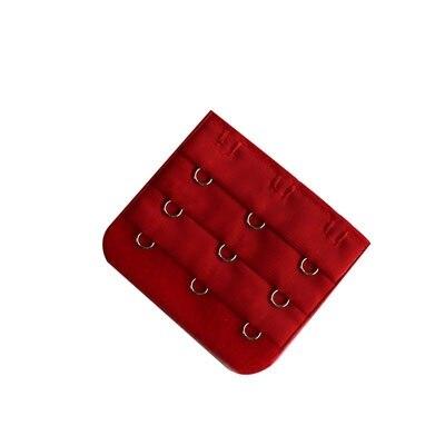 5 шт., расширители для бюстгальтера, удлинение пряжки, 3 крючка, 1, 2, 3, 4, 5 крючков, расширитель для бюстгальтера, инструмент для шитья, аксессуары для женщин - Цвет: Red 3 buckle