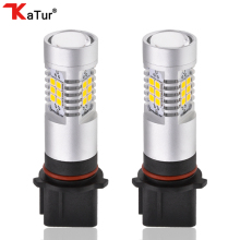 Katur 2x PSX26W Led Bulbs For Cars Driving Driving Fog Light SMD Chip Super Bright 6000K White Lighting Amber/Orange Led Lamp