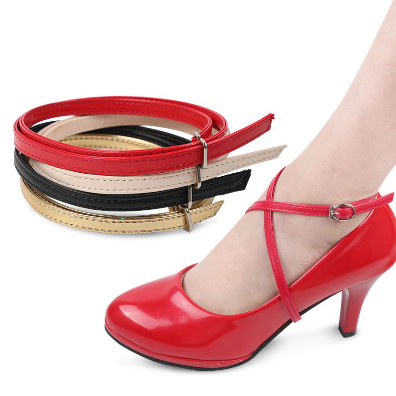 High Quality 58CM Cross Ankle Straps Adjustable For High Heel Shoes Bands Shoelace Belt Wedding Outside Universal