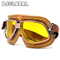 NEW Style Harley Couro Óculos De Motocross Óculos De Proteção Da Motocicleta Óculos de Proteção Piloto Retro Jet Capacete Eyewear Frete Grátis