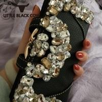 Genuine Leather Purse Women Fashion Diamonds Long Wallet Multicolor High Capacity Money Bag Crystal Clutch Purse Party Wallet