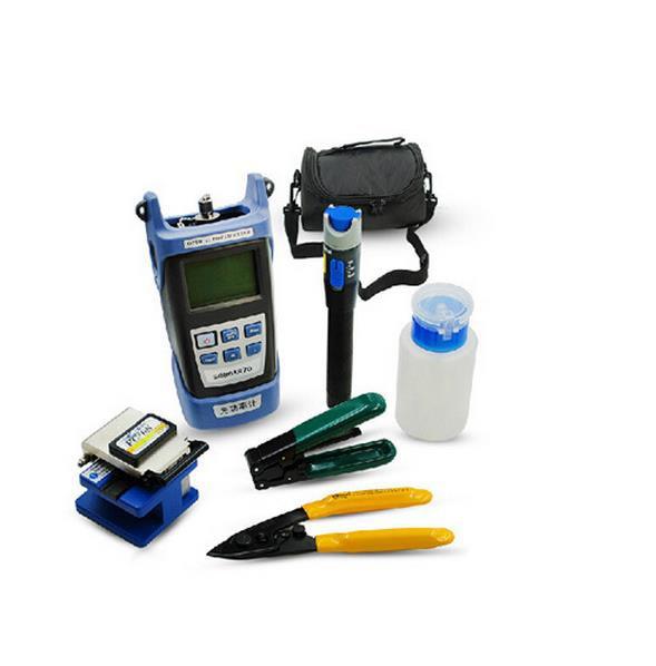 Fiber Optic FTTH Tool Kit with FC-6S Cortadora de Fibra Optica and Power Meter Cable Fault Locator 5mw