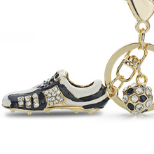 Crystal Football Shoes Keychain
