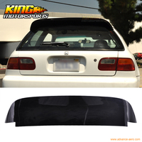 Fit For 92 95 Honda Civic 3DR EG EH SPOON Duckbill Roof Spoiler Wing Glossy Black US Domestic Free Shipping