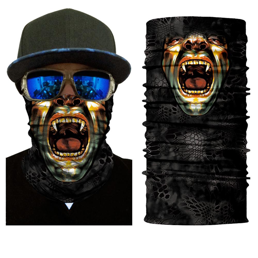 Multifunctional Motorcycle Face Shield Bandana Skull Scarf UPF High Quality Tube Skull Face Mask Shield Seamless Bandanas (2)