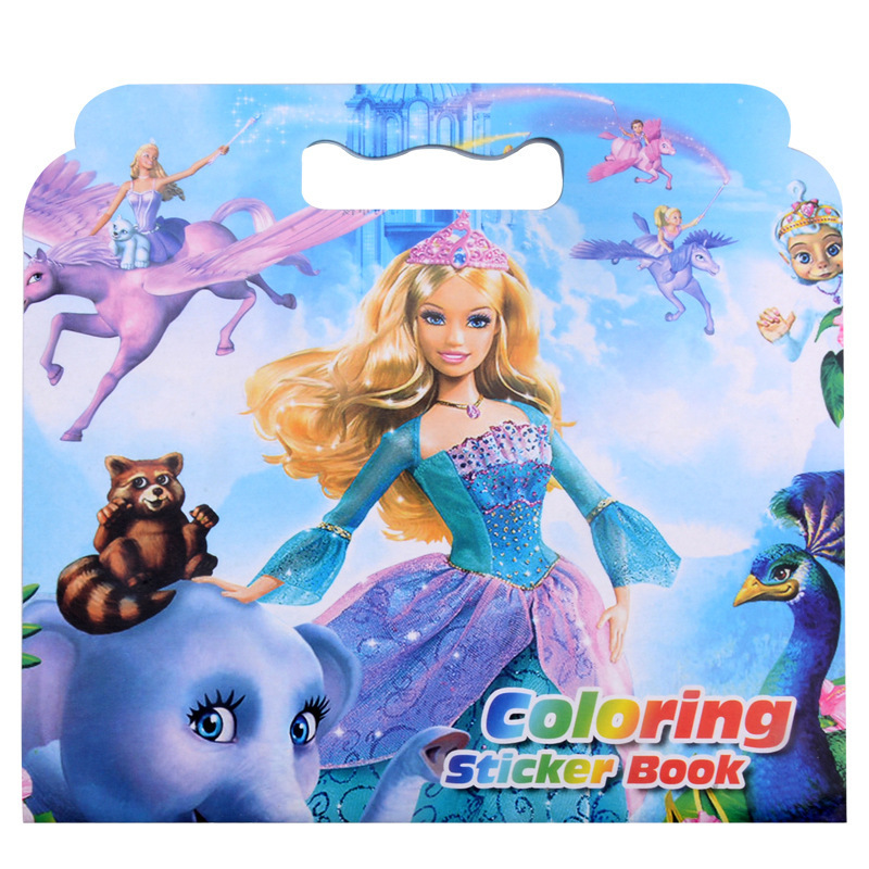 Creative New Xiao Princess Coloring Sticker Book