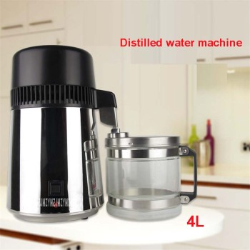 220 V / 110 V,  ABZ01 Family 304 Stainless Steel Water Distiller 750W Water Dispenser Water Purifier  1L / H Distillation 400mL