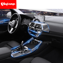 Car Stickers For  BMW X3 X5 X6 transparent Promotion TPU Film Cover sticker for center console Styling