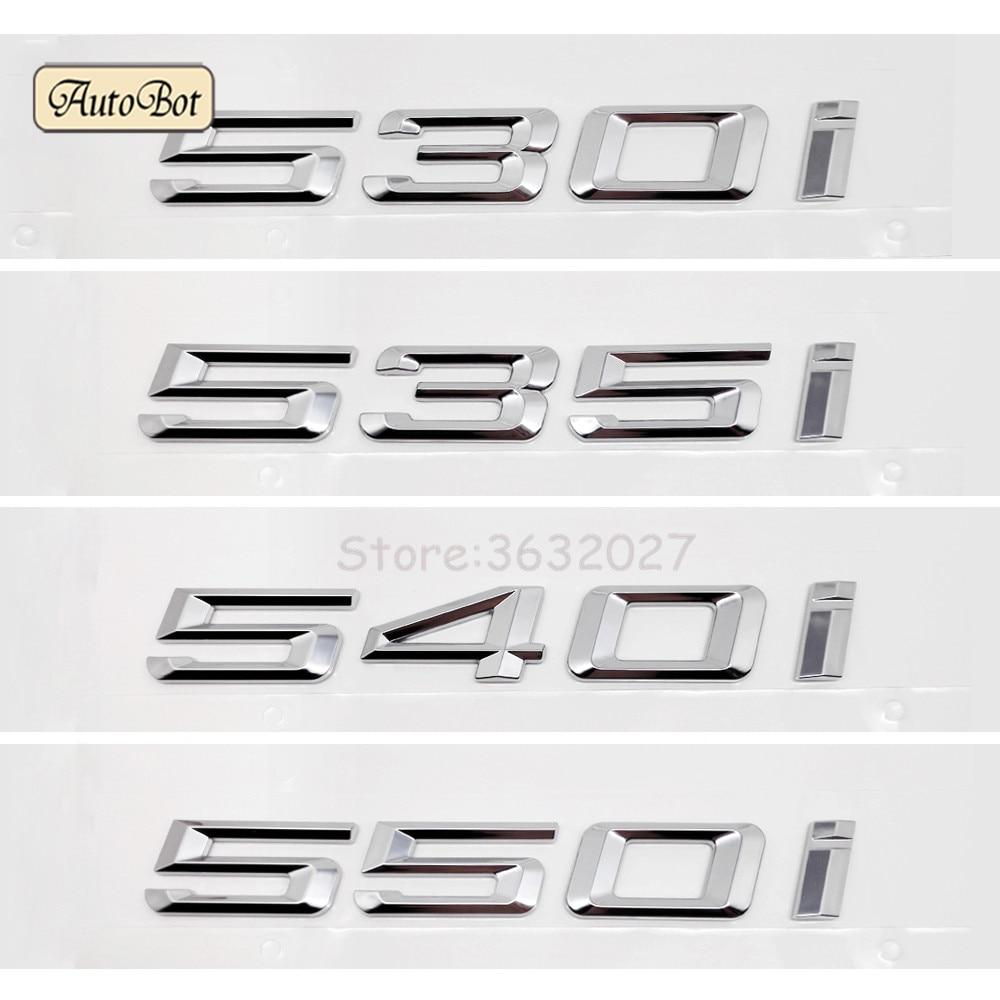 Chrome Number Trunk Rear Letters Badge Emblem Sticker for BMW 5 Series 540i
