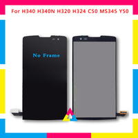 5pcs/lot LCD Display Screen With Touch Screen Digitizer Assembly For LG Leon H340N H320 H340 H324 C50 MS345 Y50 DHL