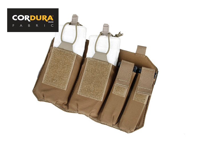 Double 5.56 & 9mm Magazine Pouch for SS Plate Frame Vest Coyote Brown,BK+Free shipping(XTC050930)