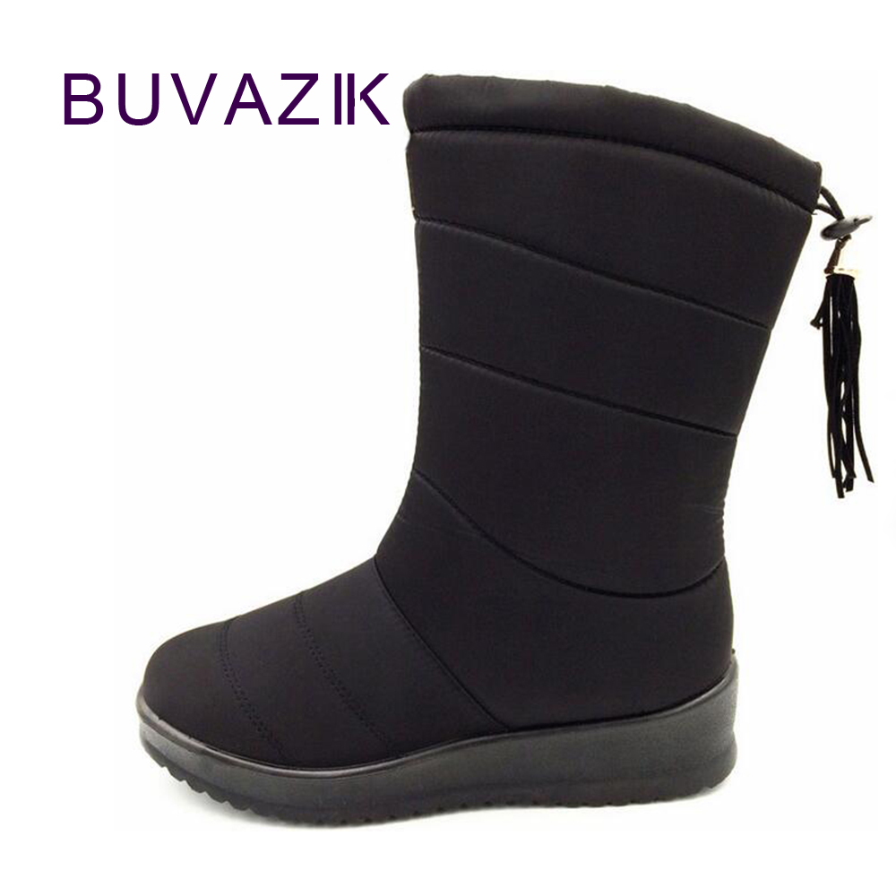 b55eafb7487a 2018 Women Mid-Calf Down Snow Boots Female Waterproof Ladies warm winter  shoes short plush