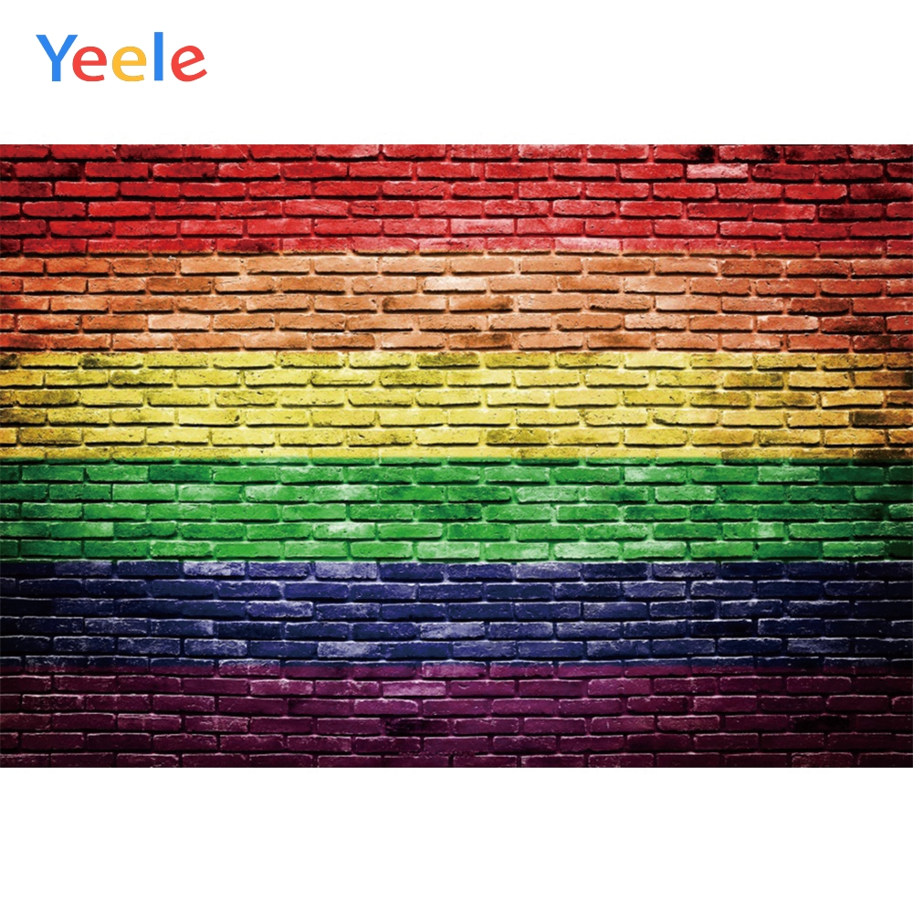 Yeele Colored Graffiti Brick Wall Design Grunge Personalized Photographic Backdrops Photography Backgrounds For Photo Studio
