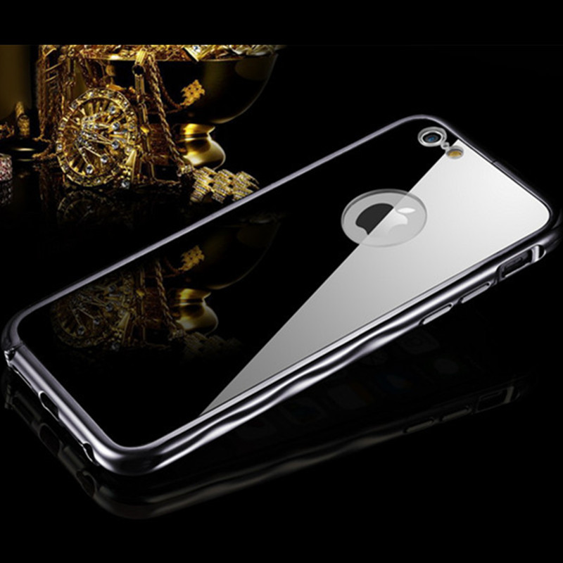 For iphone 6 plus case girls metal face mirror case for for Coque iphone 4 miroir