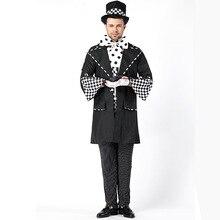 Halloween Costumes Adult Mens Magician Chaplin Costume Uniform Fancy Dress Cosplay for Men