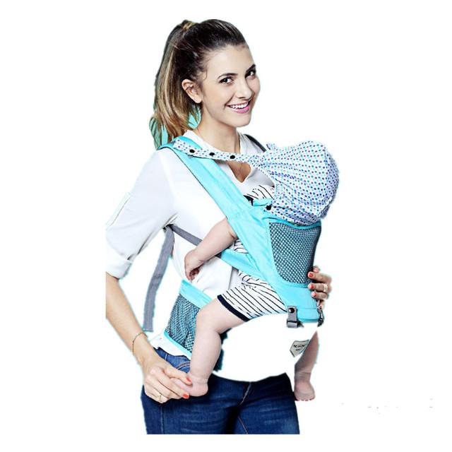 Abrigo de la honda moda 2016 poliéster frente sólido Carry morrales del bebé tirantes asiento Hip para ergonómico hombros del bebé abrigo de la honda del
