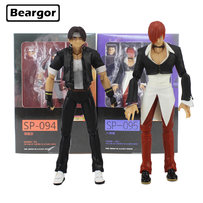 6 KOF Game Figma SP-094 Kyo Kusanagi & Iori Yagami SP-095 Moveable Boxed 15cm PVC Action Figure Model Doll Toys Gift