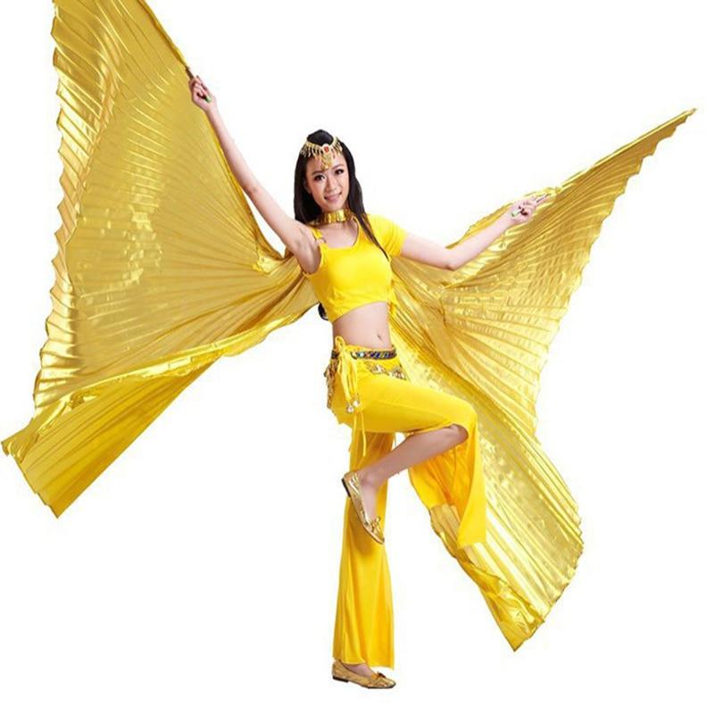2017 Högkvalitativ egyptisk öppning Isis Belly Dance Wings Danstillbehör Wing Sale Without Stick Brand New 8 färger tillgängliga