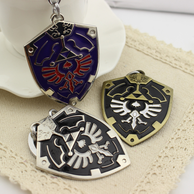 Anime Breath of the Wild Keychain Link Metal Key Chains Logo Car Keyrings Holder Cosplay Pendants Accessories Figure Doll