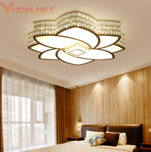 Modern Ceiling Lamps Lighting Fixture Home Crystal Lights Dimmable Living room BedAcrylic lamparas de techo Remote Controller