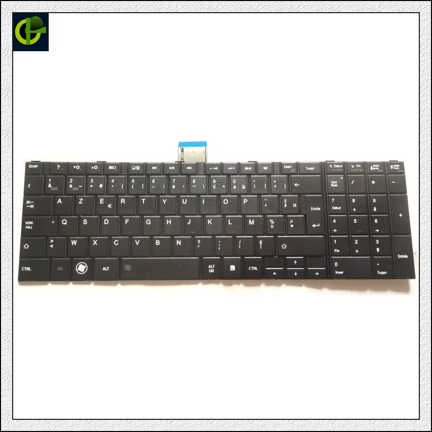 French AZERTY Keyboard For Toshiba Satellite C55-A C55D-A C55T-A C50-A C50D-A C50T-A C50-A-17R C50-A-17U C50-A-19U C50-A-1HD FR